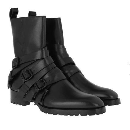 Dsquared2  Boots  -  Flat Ankle Boots Cross n Roll Black  - in schwarz  -  Boots für Damen schwarz