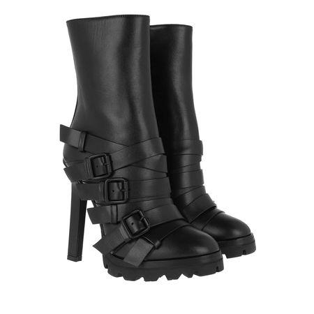 Dsquared2  Boots  -  Heeled Ankle Boots Leather Black  - in schwarz  -  Boots für Damen grau