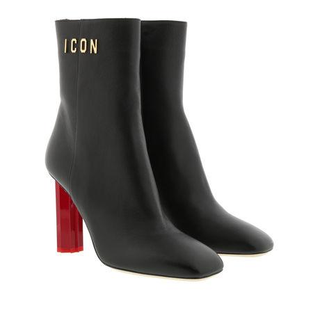Dsquared2  Boots  -  Icon Heel Ankle Boot Black  - in schwarz  -  Boots für Damen grau