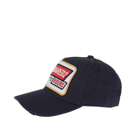 Dsquared2  Caps  -  Riders Baseball Cap Gabardine Navy  - in blau  -  Caps für Damen grau
