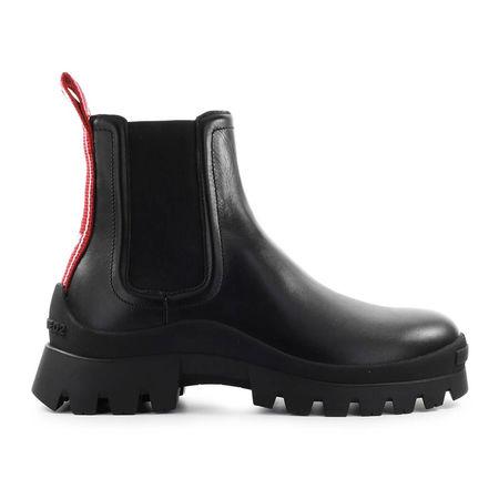Dsquared2 Chelsea Boots TANK TAPE Kalbsleder Logo schwarz