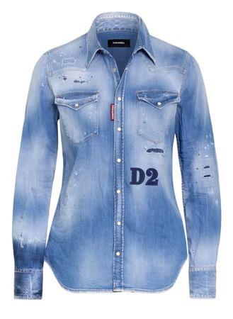 Dsquared2  Jeansbluse d2 blau blau