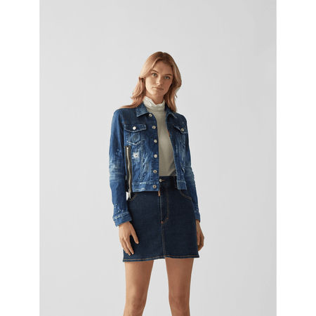 Dsquared2 Jeansjacke im Destroyed-Look