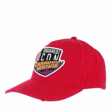 Dsquared2  Mützen - Canadian Heritage Branded Baseball Cap - in rot - für Damen