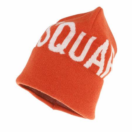 Dsquared2  Mützen - Logo Beanie - in orange - für Damen