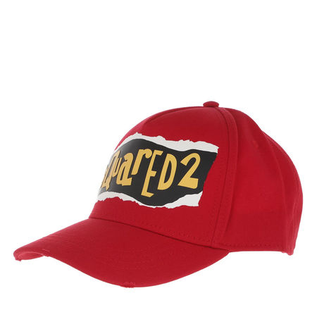 Dsquared2  Mützen - Peel Baseball Cap - in rot - für Damen rot