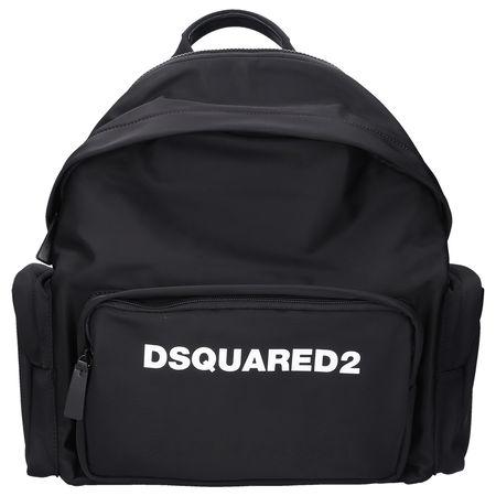 Dsquared2 Rucksack DSQ2 Nylon logo schwarz schwarz