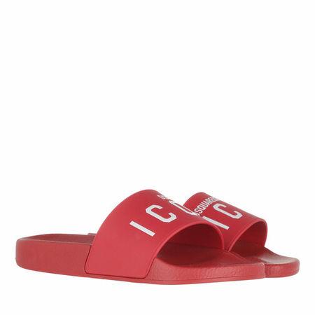 Dsquared2  Sandalen & Sandaletten - Icon Slide Sandals - in rot - für Damen
