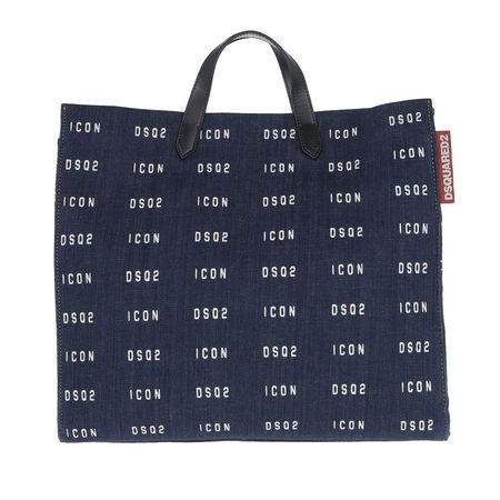 Dsquared2  Shopper  -  Logo Printed Tote Bag Denim  - in blau  -  Shopper für Damen grau