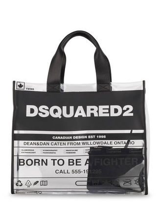 Dsquared2  Shopper Mit Pouch schwarz grau