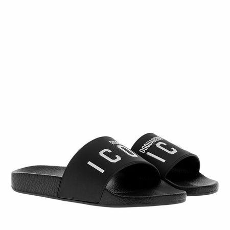 Dsquared2  Slipper & Pantoletten - Icon Slider - in schwarz - für Damen