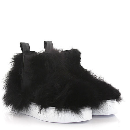 Dsquared2  Sneaker High Fufone Fuchsfell schwarz schwarz