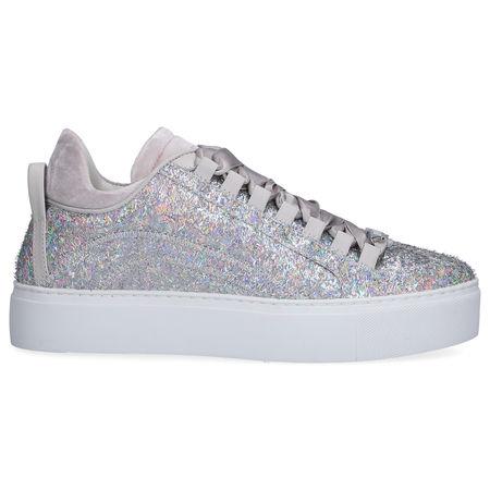 Dsquared2  Sneaker low 551 laminiertes Glitzergewebe Glitzer Logo silber grau
