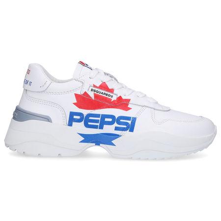 Dsquared2 Sneaker low D24 Kalbsleder Logo weiß grau