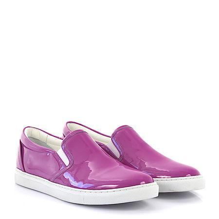 Dsquared2 Sneaker low Kalbsleder  Lackleder lila pink