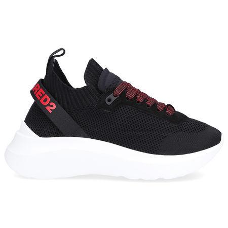 Dsquared2  Sneaker low SPEEDSTER  Materialmix Veloursleder Logo rot schwarz schwarz