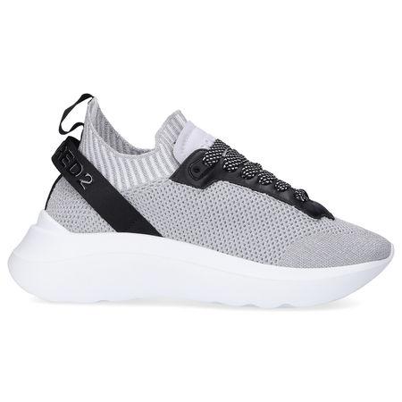 Dsquared2 Sneaker low SPEEDSTER Polyamid Logo silber grau