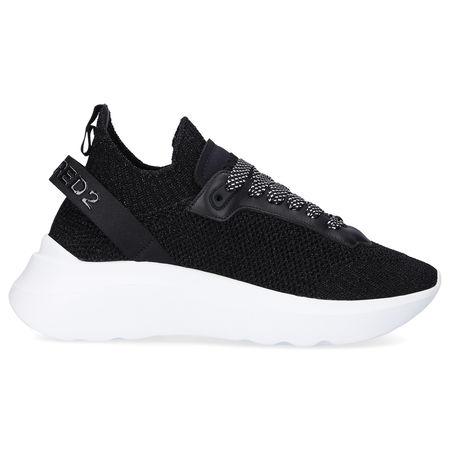 Dsquared2 Sneaker low SPEEDSTER Polyamid Logo weiß-kombi schwarz