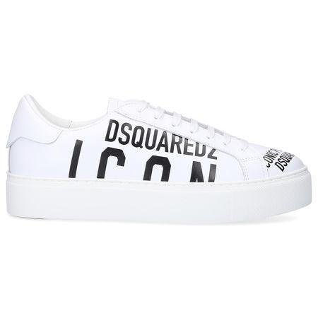 Dsquared2 Sneaker low TENNIS CLUB Kalbsleder Logo weiß weiss