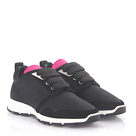 Dsquared2  Sneaker MARTE RUN Hightech-Jersey schwarz pink Veloursleder schwarz grau