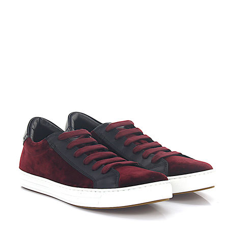 Dsquared2 Sneaker TENNIS CLUB Samt bordeaux Leder schwarz grau
