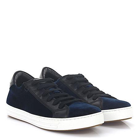 Dsquared2 Sneaker TENNIS CLUB Samt dunkelblau Leder schwarz schwarz