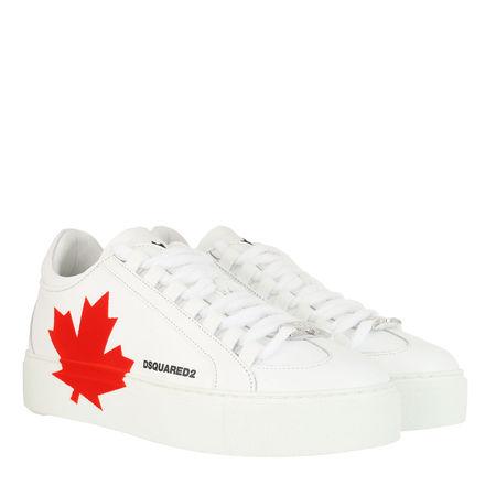 Dsquared2  Sneakers - Canadian Team Sneakers Leather - in white - für Damen grau