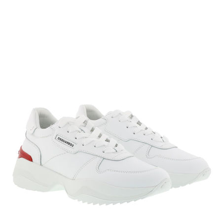 Dsquared2  Sneakers  -  Lace Up Low Top Sneakers White  - in weiß  -  Sneakers für Damen grau