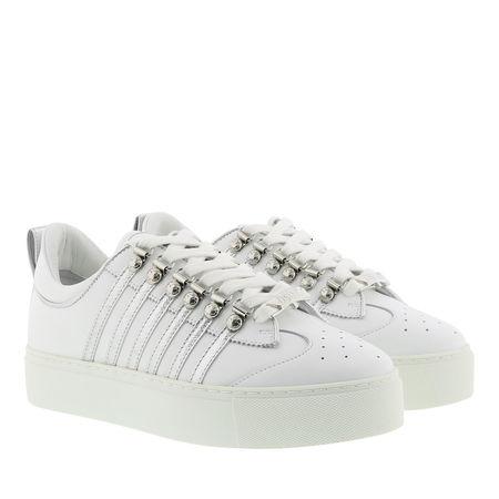 Dsquared2  Sneakers - Side Stripe Sneakers - in weiß - für Damen grau