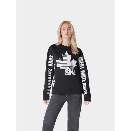 Dsquared2 Sweatshirt mit Label-Details grau