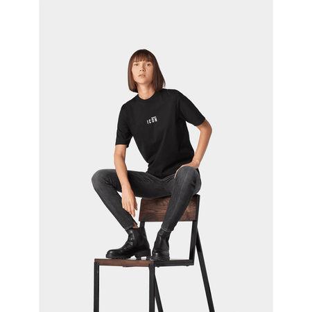 Dsquared2 T-Shirt mit Front-Print grau