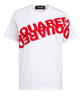 Dsquared2  T-Shirt weiss lila