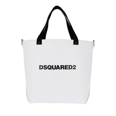 Dsquared2  Tote  -  Logo Print Bucket Bag White  - in weiß  -  Tote für Damen grau