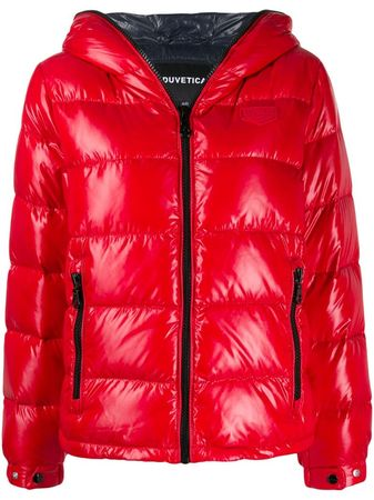 Duvetica  Kapuzenjacke mit Glanz-Finish - Rot rot