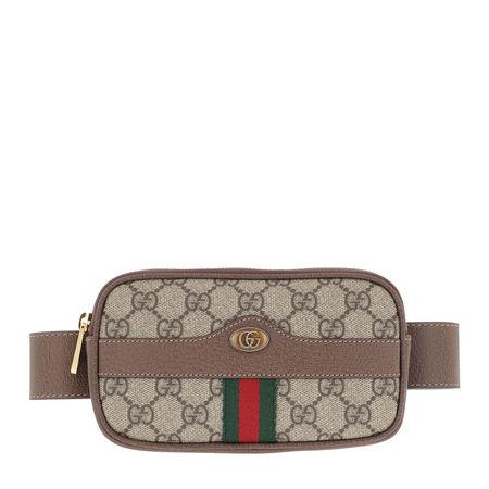 Gucci  Gürteltasche  -  GG Supreme Belted iPhone Case Canvas Beige/Ebony  - in beige  -  Gürteltasche für Damen braun