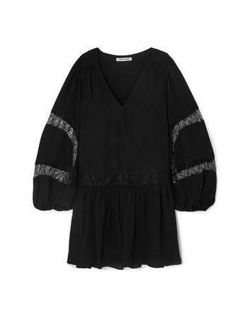 Elizabeth and James  32 Damen Schwarz Kurzes Kleid Polyester schwarz