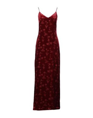 Elizabeth and James  36 Damen Bordeaux Langes Kleid Viskose, Seide braun