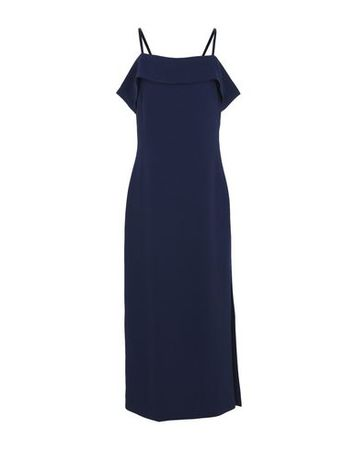 Elizabeth and James  36 Damen Dunkelblau Langes Kleid Polyester grau