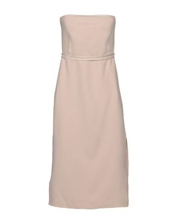 Elizabeth and James  38 Damen Nude Knielanges Kleid Polyester, Rayon, Elastan braun