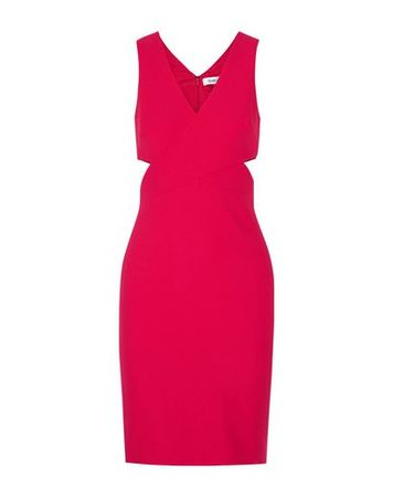 Elizabeth and James  38 Damen Purpur Knielanges Kleid Polyester, Viskose, Elastan pink
