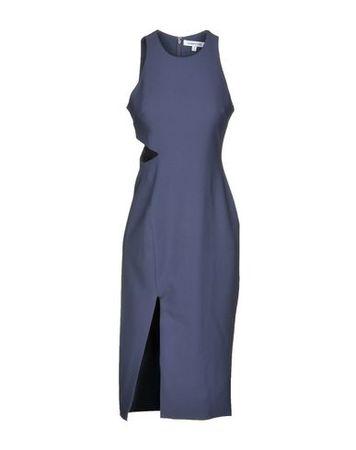 Elizabeth and James  38 Damen Taubenblau Knielanges Kleid Polyester, Viskose, Elastan grau