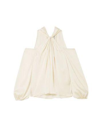 Elizabeth and James  Damen Elfenbein Bluse Polyester beige