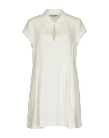 Elizabeth and James  Damen Elfenbein Kurzes Kleid Triacetat, Polyester braun