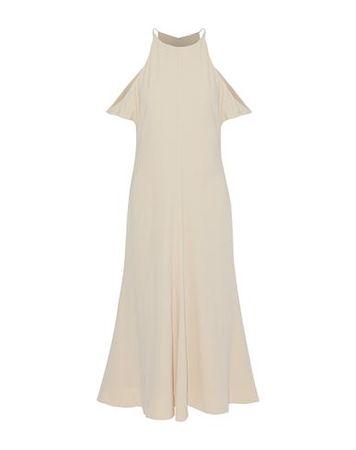 Elizabeth and James  Damen Elfenbein Langes Kleid Acetat, Polyester braun