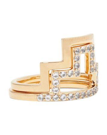 Elizabeth and James  Damen Gold Ring Metall orange