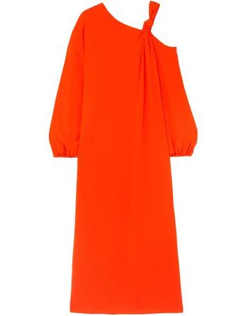 Elizabeth and James  Damen Orange Langes Kleid Acetat, Polyester orange