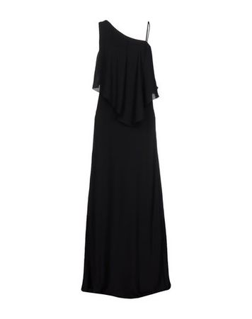 Elizabeth and James  Damen Schwarz Langes Kleid Polyester schwarz