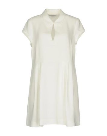 Elizabeth and James  XS Damen Elfenbein Kurzes Kleid Triacetat, Polyester braun