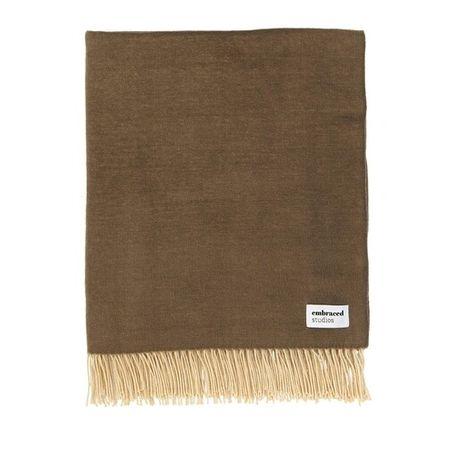 Embraced Studios  Heimtextilien - Reversible Sofa Cotton Blanket - in brown - für Damen