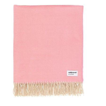 Embraced Studios  Heimtextilien - Reversible Sofa Cotton Blanket - in pink - für Damen